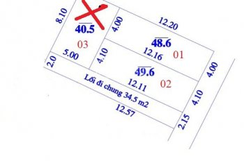 Chính chủ bán 02 lô 48.6m2 đất thổ cư thôn Mỹ Nội, cách trục chính thôn 70m