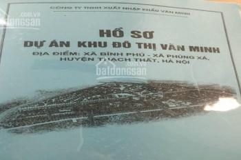 Bán dự án khu đô thị Văn Minh 123ha Thạch Thất Hà Nội