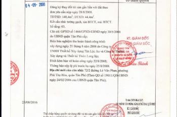 Chính chủ bán nhà Lê Văn Phan, Tân Phú, 4x12m nhà 3 tầng, BTCT, sổ hồng riêng sang tên ngay