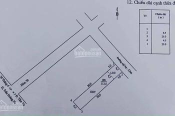 Bán nền 112m2 thổ cư, hẻm 50 đường Trần Hoàng Na, Quận Ninh Kiều