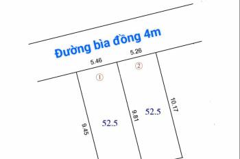 Mở bán lô đất 52m2 siêu đẹp Đào Thục, Thụy Lâm, Đông Anh, đường ô tô vào tận nhà, ngõ thông