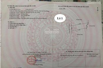 Chính chủ bán lô đất tại  Vĩnh Bảo giá ưu đãi 448tr, bao sang tên, tặng 1 chỉ vàng 9999
