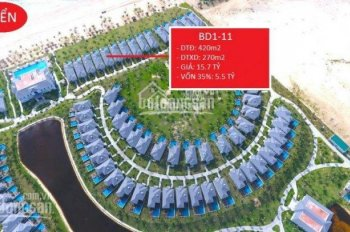 Biệt thự mặt biển BD 1 - 11 bán cắt lỗ 3 tỷ BT Vinpearl Bãi Dài Nha Trang 420m2, cần bán gấp