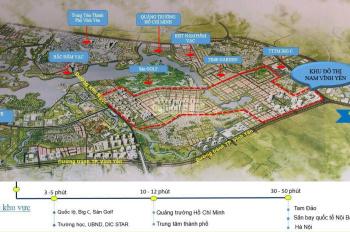 Bán đất nền dự án Nam Vĩnh Yên giai đoạn 2. Giá chỉ hơn 20tr/m2
