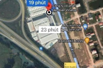Bán gấp đất băng 1,TL 310 Sơn Lôi, Bình Xuyên, Vĩnh Phúc bao quanh là 5 khu công nghiệp KD tốt