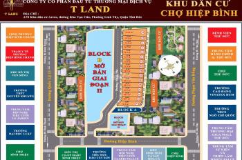 Mở bán khu dân cư chợ Hiệp Bình nằm ngay mặt tiền đường Hiệp Bình giá từ 69 triệu/m2