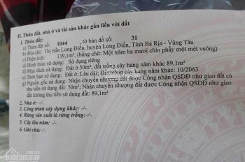 Cần bán đất thị trấn Long Điền, diện tích 7,5m x 20m x 50m2 TC. Giá 1 tỷ 100 TL
