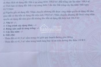 Chính chủ bán 2 lô đất cạnh nhau DT 206.7m2 và 204.4m2 ở thị xã Hương Trà, tỉnh Thừa Thiên Huế.