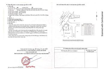 Chính chủ cần bán lô đất 260 mét, hai mặt tiền đường Vĩnh Lộc, sau là kế công viên, kinh doanh tốt