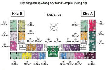 Chính chủ bán căn góc 3PN, 2vs 90,82m2 - 2,4 tỷ chung cư Anland Complex ở ngay, bc Đông Nam