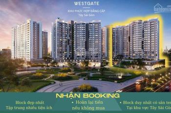 Nhận booking căn hộ West Gate chỉ 50tr, nằm trong khu hành chính huyện Bình Chánh
