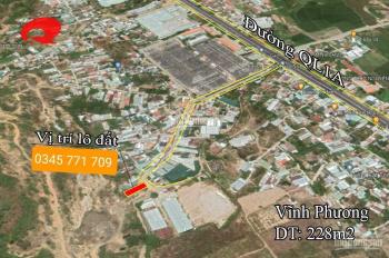 Bán lô đất 100% thổ cư gần quốc lộ 1A tp Nha Trang chỉ 1 tỷ 200