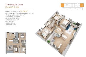 Mặt bằng căn hộ The Matrix One