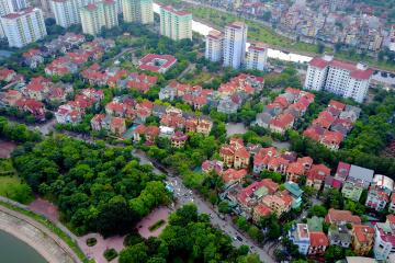 Hình ảnh thực tế Khu đô thị mới Linh Đàm