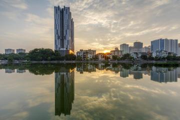 Hình ảnh thực tế khu đô thị Văn Quán