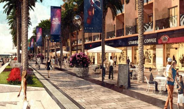 Phối cảnh shophouse Sun Marina Plaza