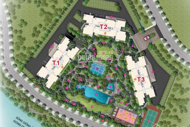 Cần tiền sang ngang giá booking CC 2 phòng 85m2 Palm Garden, căn đẹp view hồ bơi và sông