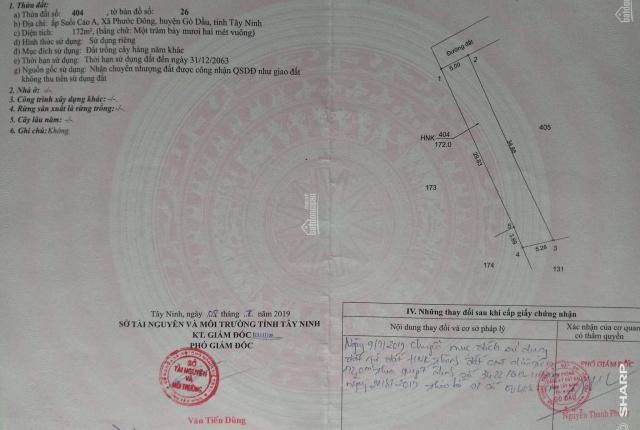 Bán đất thổ cư gần KCN Phước Đông giá chỉ 130tr, mua sang tên công chứng trong ngày, LH: 0394455292
