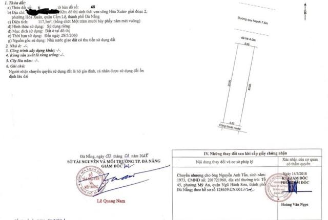 Bán đất Thanh Lương 27 - Giá rẻ chốt nhanh - LH: Linh 0367844844
