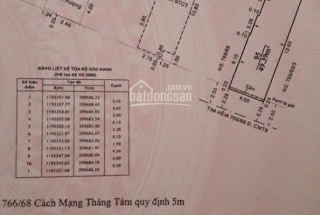 Bán nhà đường CMT8, P5, DT: 4x14m nhà 1T, 2L,ST, giá 8,8 tỷ TL
