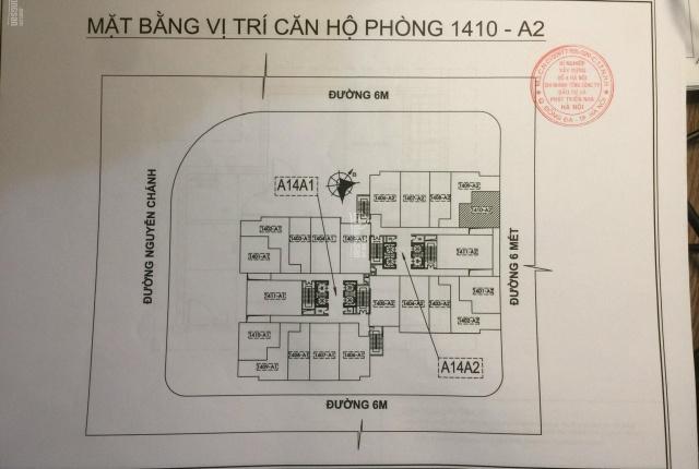 Chính chủ bán căn hộ số 1410 A14A2 khu đô thị Nam Trung Yên, phường Yên Hoà, quận Cầu Giấy, Hà Nội