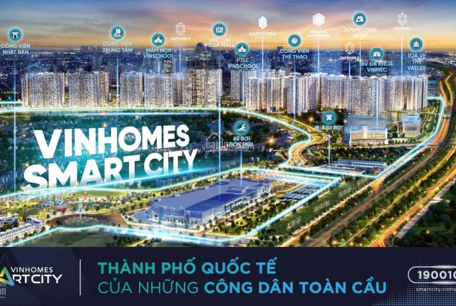 Bán căn 55m2 sát công viên trung tâm Vinhomes Smart City chỉ 500 triệu nhận nhà. 2 năm trả 0đ