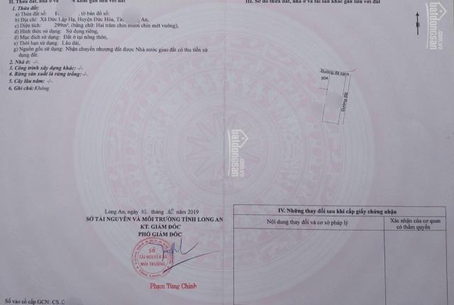 Bán đất 3MT Bàu Sen, Đức Lập Hạ 10x30 chỉ 2tỷ550, SHR thổ cư 100%