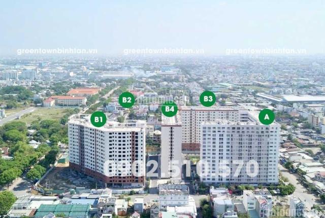 Căn hộ Green Town Bình Tân mới bàn giao nhà, DT 49-53-63-68-72-94m2, hỗ trợ vay 70%. LH 0934022839