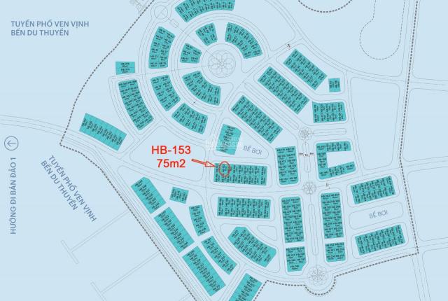 Chính chủ cần bán lô HB-153; 6.5 tỷ; dự án Harbor Bay mặt biển Bãi Cháy; DT 75m2x5T; đã bàn giao