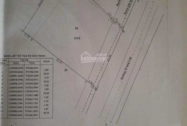 Kẹt tiền bán đất mặt tiền đường Trung Lập, Củ Chi, DT 1300m2(34x40) có 873m thổ cư khu dân cư