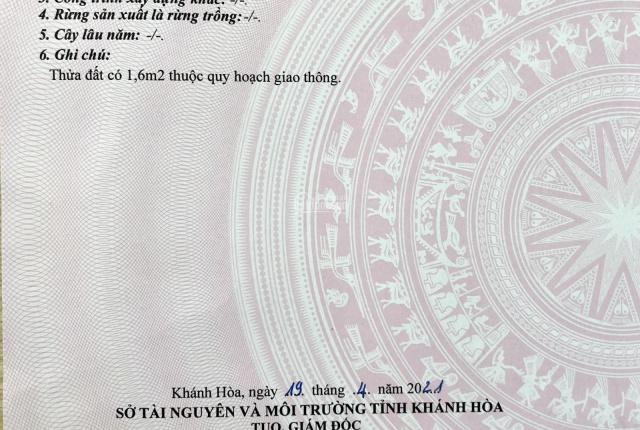 Giá 26 tr/m2 đất mặt tiền 80 Ngô Đến, Vĩnh Phước, Nha Trang full 100% thổ cư