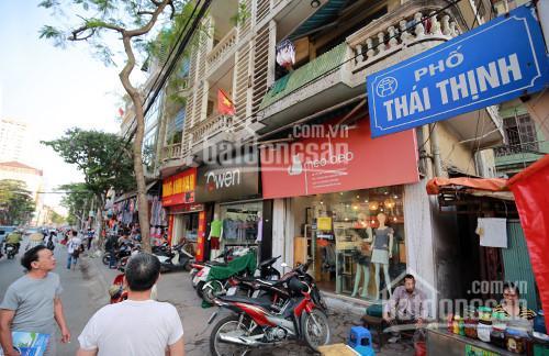 Cần bán nhà mặt phố Thái Thịnh 156m2, 5 tầng, lô góc 2 mặt phố đều 13m, giá 54 tỷ