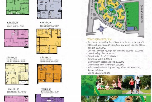 Bán căn hộ cao cấp 100m2, 3 PN chung cư Tecco Town Bình Tân, full giá 2,1 tỷ, bao toàn bộ thuế phí