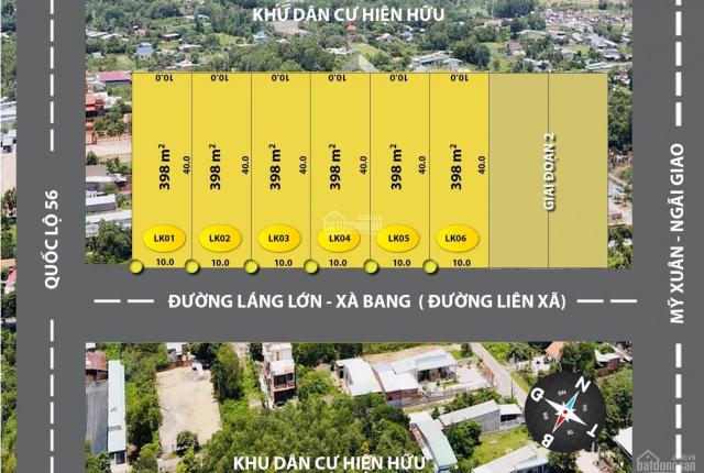 Cơ hội đầu tư đất mặt tiền đường Láng Lớn - Xà Bang, Châu Đức chỉ 4,9tr/m2