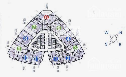 Bán căn hộ 1903 Tháp B Keangnam Landmark Phạm Hùng - 160m2 căn góc gồm 4PN - tel 0904717878