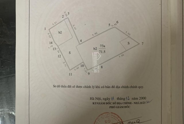 Chính chủ cần bán nhà trong ngõ Thọ Lão, diện tích 71,5m2, giá 85tr/m2, giá cả có thể thương lượng