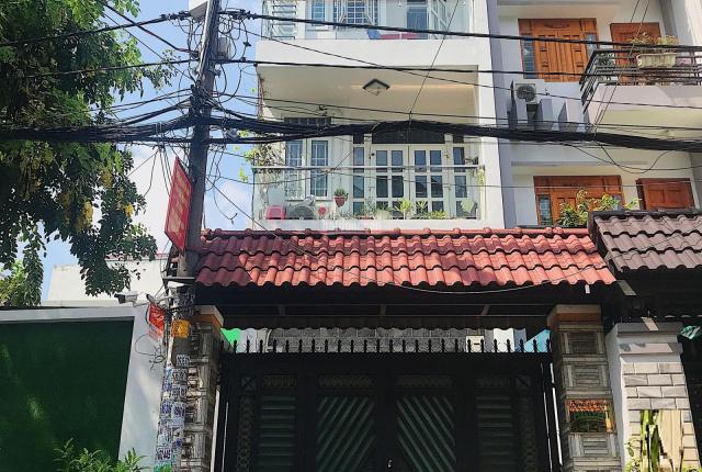 Xuất ngoại cần bán gấp nhà HẺM XE TẢI 12m, cách MT Lê Văn Thọ 3 căn, DT 4x20M, trệt lửng 2 lầu ST