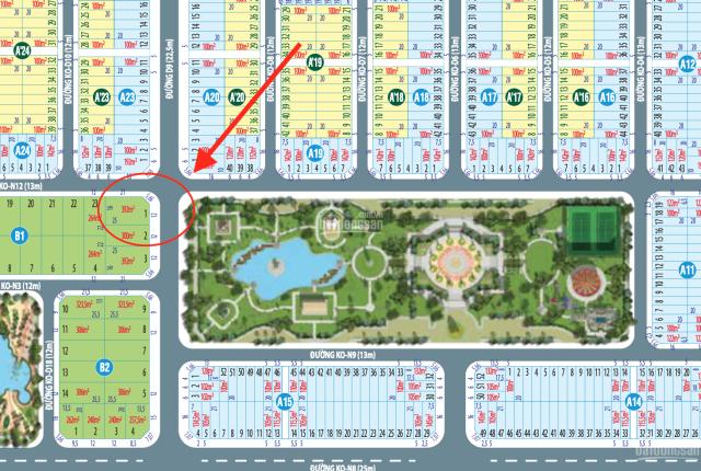 Lô góc biệt thự duy nhất, đẹp nhất dự án Century City đối diện công viên trung tâm 2ha 093.3871.093