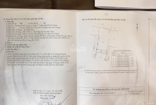 Chính cần bán lô đất đường Hồ Bá Phấn, Phước Long A, Q9 4mx16m có 2 mặt tiền rộng 6m giá chỉ 5.2 tỷ