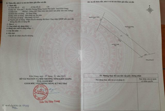 Bán đất đường Trần Hưng Đạo, Phú Quốc - 0965.126.255