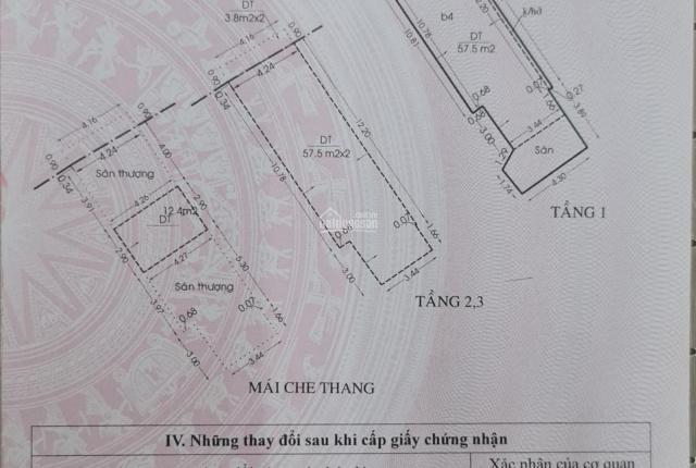 Bán nhà hẻm SHR, diện tích 79.8m2; 3 lầu 4 phòng ngủ, 2 sân thượng trước sau; đường Lương Văn Can