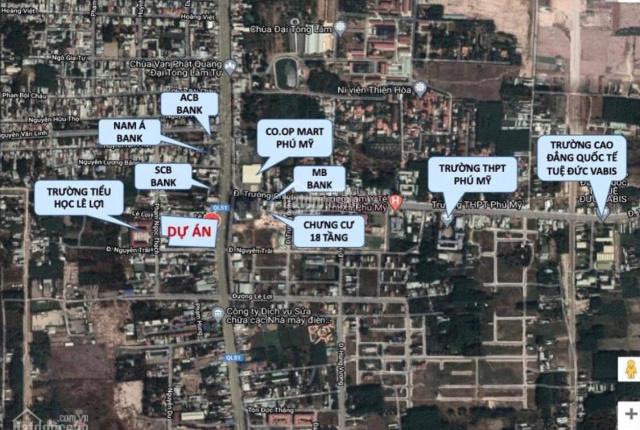 Đất mặt tiền Quốc Lộ 51 - ngay khu hành chính thị xã Phú Mỹ