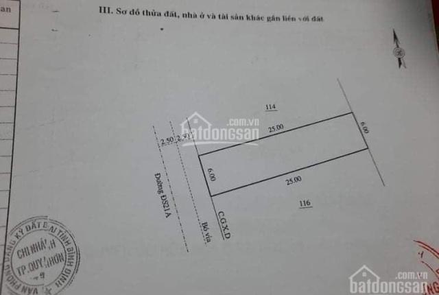 Chính chủ cần bán đất 150m2 MT 6m Nhơn Phước - Nhơn Hội, đường 2 ô tô tránh tiềm năng tăng giá cao