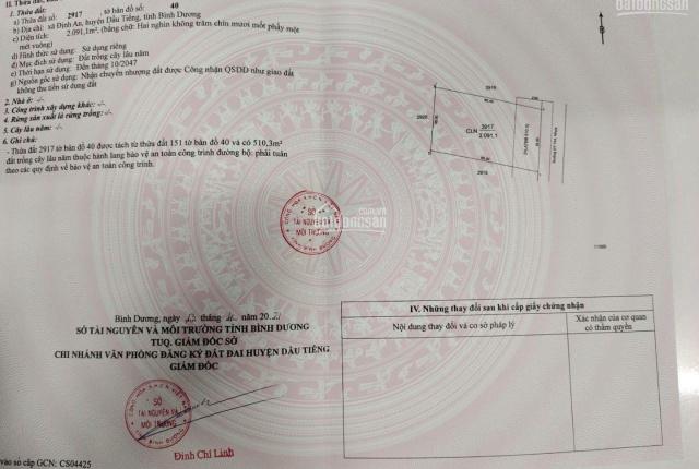 Đất nhà mặt tiền đường ĐT744 - xã Định An cần bán gấp, giá lỗ; Gần hồ Dầu Tiếng, pháp lý chuẩn