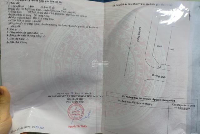 Chính chủ bán lô góc thổ cư 100% ở Gò Hưu, Đức Hòa, Long An