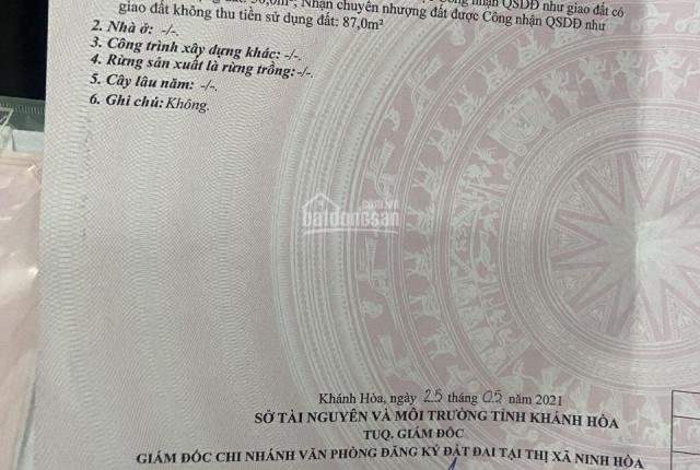 Bán đất tặng nhà ngay chợ Ninh Sơn - Ninh Hòa chỉ 390tr, LH 0899486183