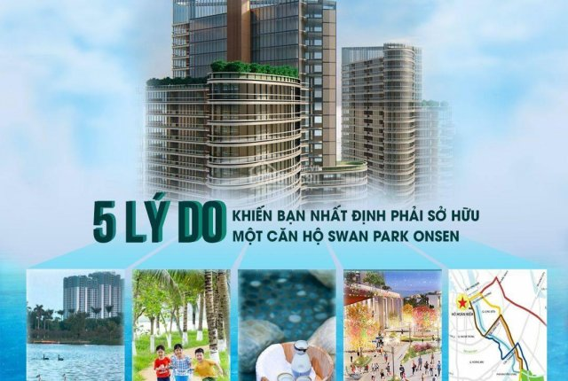 Đặt chỗ căn hộ khoáng nóng Swan Park Onsen - Ecopark Hưng Yên, view đẹp giá tốt ưu đãi đặc biệt