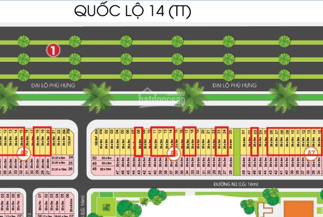 Đất MT QL14(TT) đối diện KCN Đồng Xoài 3 DT: 5x26=130m2 giá 1,6tỷ cạnh công viên lớn nhất Đồng Xoài