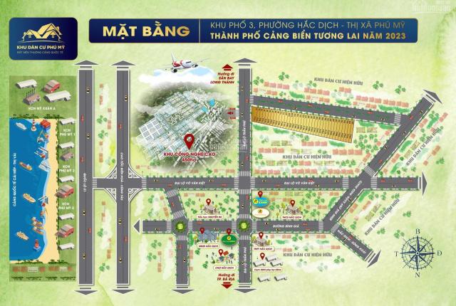 Đất nền KP3 Hắc Dịch, 2 mặt tiền đường Trần Phú, đường thông MX - NG, giá 6,4tr/m2