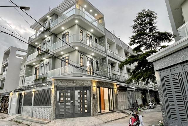 Biệt thự lô góc xây mới 2 mặt tiền Huỳnh Tấn Phát, tiện ích đồng bộ, có gara ôtô, full nội thất mới